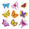 Vector clipart: butterflies set