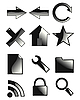 Vector clipart: set of web icons