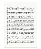 Vector clipart: music note sheet