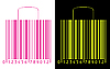 Shopping bags stylized as bar code | Stock Vector Graphics