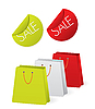 Vector clipart: shopping stickers and bags