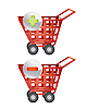 Vector clipart: shopping baskets as icons
