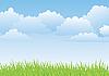 Векторный клипарт: весенний пейзаж