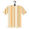 Vector clipart: t-shirt as barcode