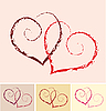 Vector clipart: two hearts