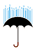 Vector clipart: Umbrella and barcode