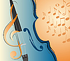 Vector clipart: violin and notes