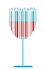 Vector clipart: wine glass as barcode