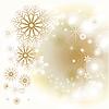 Векторный клипарт: Зимний фон со снежинками