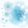 Векторный клипарт: Зимний серый фон со снежинками
