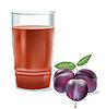 Векторный клипарт: стакан сока