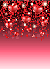 Romantic background with hearts | Stock Vector Graphics