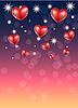 Vector clipart: romantic background with hearts