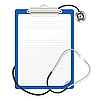 Vector clipart: stethoscope on clipboard