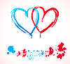 Vector clipart: heart stains