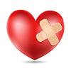 Vector clipart: heart with plaster