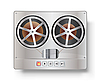 Vector clipart: Vintage reel to reel tape recorder