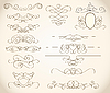 Vector clipart: swirls and frames