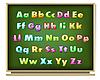 Vector clipart: abc on blackboard