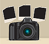 Vector clipart: camera and photo frames