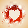 Vector clipart: heart on grunge spots
