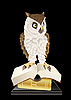 Vector clipart: owl and books