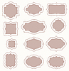 Vector clipart: set of vintage frames