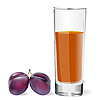 Vector clipart: plums and glass