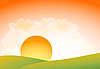 Vector clipart: sunset landscape