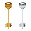 Vector clipart: vintage keys