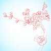 Vector clipart: sakura flowers