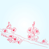 Vector clipart: background with sakura flowers
