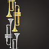 Vector clipart: polished brass trumpet