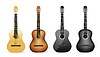 Vector clipart: realistic acoustic guitar