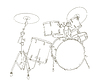 Vector clipart: drum set drawing