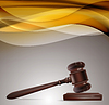 Vector clipart: justice background with wooden gavel