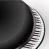 钢琴键的抽象观点 | 向量插图