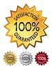 100% satisfaction guaranteed seals set