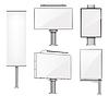 Vector clipart: set of advertising metallic blank outdoor design