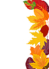 Vector clipart: vertical background with autumn leaves