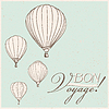vintage hot air balloons bon voyage background