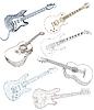 Vector clipart: set of guitars