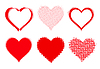 Vector clipart: set of halftone hearts