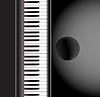 Vector clipart: piano and chair background