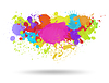 Vector clipart: Multi color blots background