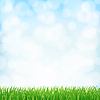 Vector clipart: spring background with green grass and sky