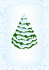 Vector clipart: spruce in snow drawing background