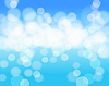 Vector clipart: sky blue abstract background with lights effects