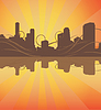 Vector clipart: urban silhouette background