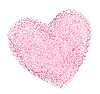 Vector clipart: heart shape with decorative texture